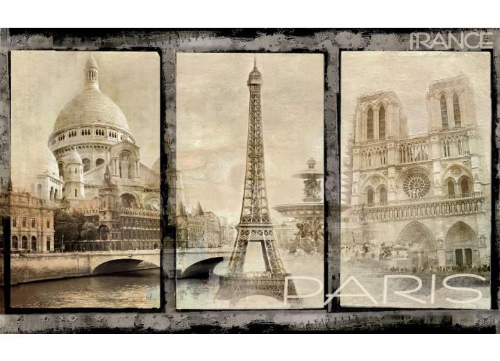 Fotobehang Vlies | Parijs | Sepia | 254x184cm