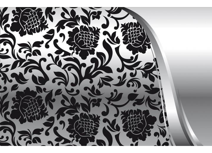 Fotobehang Vlies | Modern | Zwart, Zilver | 254x184cm