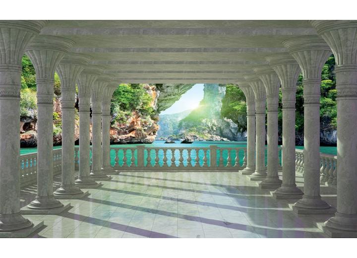 Fotobehang Vlies   Natuur   Groen, Blauw   254x184cm