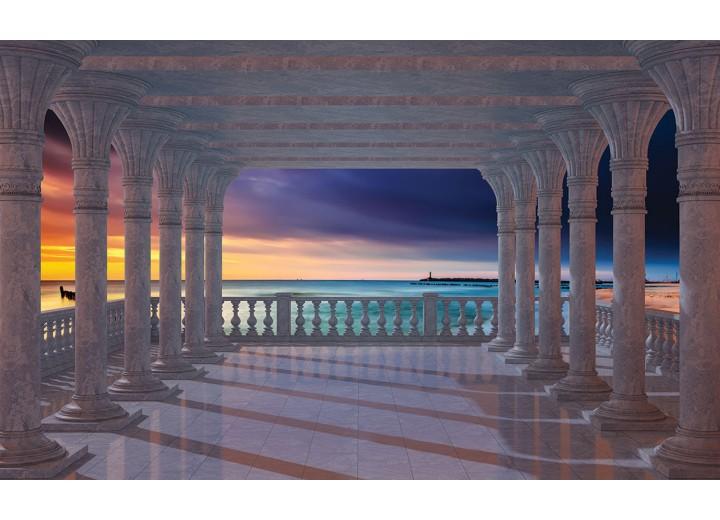 Fotobehang Vlies | Zee | Blauw | 254x184cm