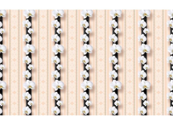 Fotobehang Vlies | Bloemen, Orchidee | Wit | 254x184cm