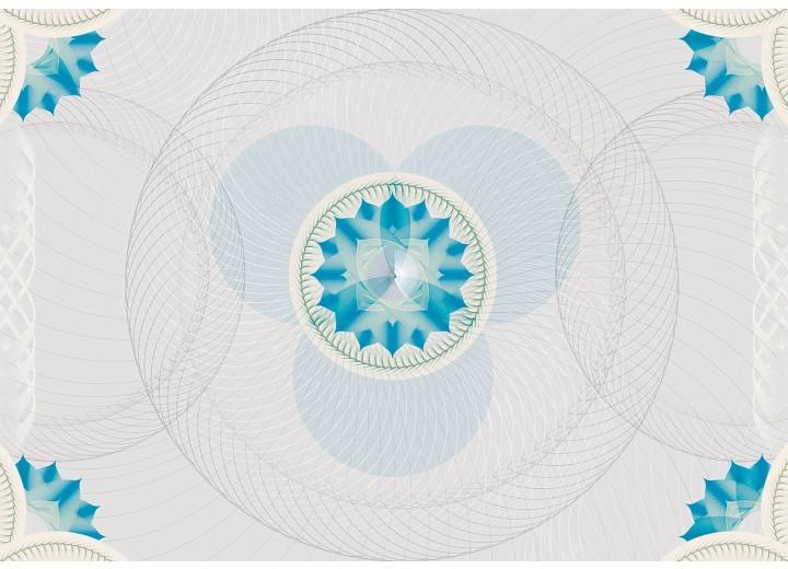 Fotobehang Vlies | Abstract | Grijs, Blauw | 254x184cm