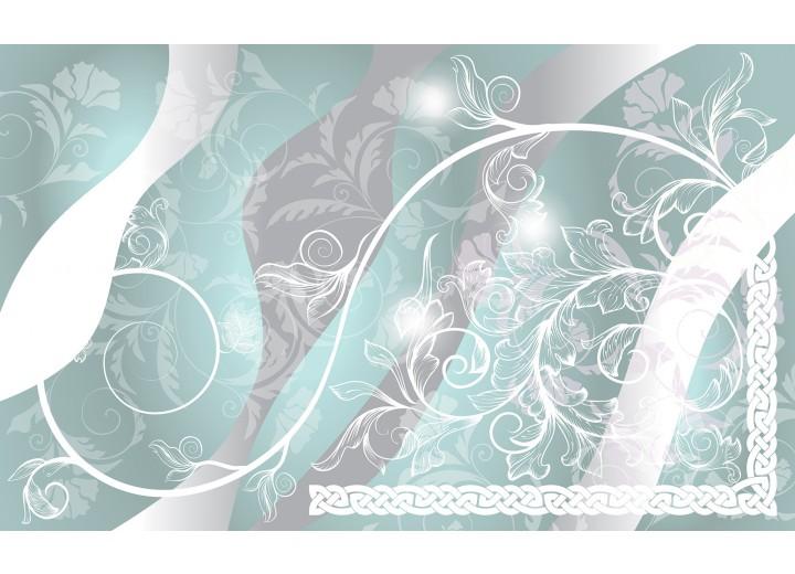 Fotobehang Vlies   Bloemen   Grijs, Groen   254x184cm