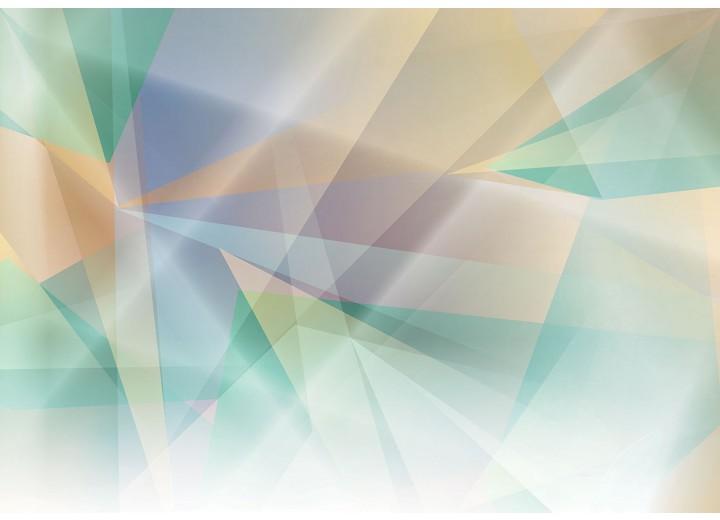 Fotobehang Vlies | Abstract | Groen, Geel | 254x184cm