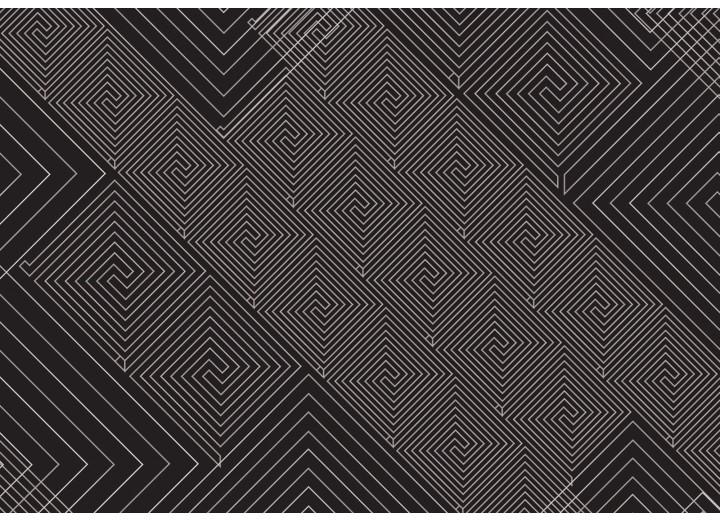 Fotobehang Vlies | Abstract | Zwart, Grijs | 254x184cm