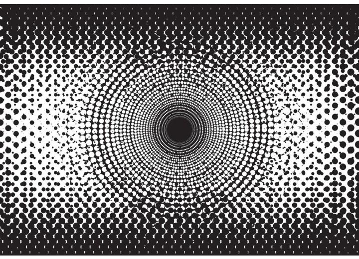 Fotobehang Vlies   Abstract   Zwart, Wit   254x184cm