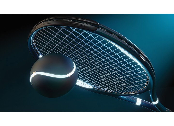Fotobehang Vlies | Tennis | Blauw | 254x184cm