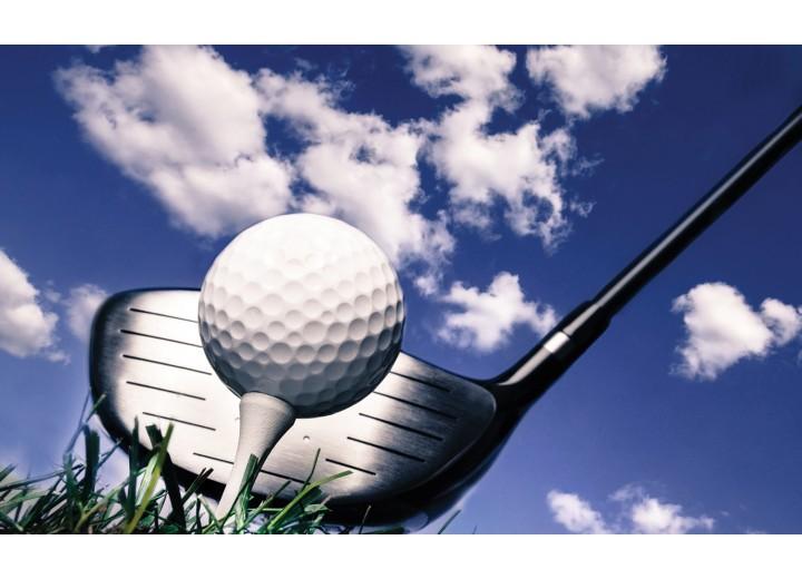 Fotobehang Vlies   Golf   Blauw, Wit   254x184cm
