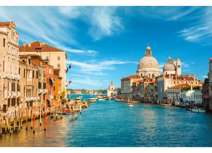 Fotobehang Vlies   Venetië   Blauw, Bruin   254x184cm