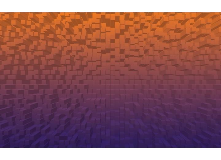 Fotobehang Vlies   3D   Oranje, Paars   254x184cm