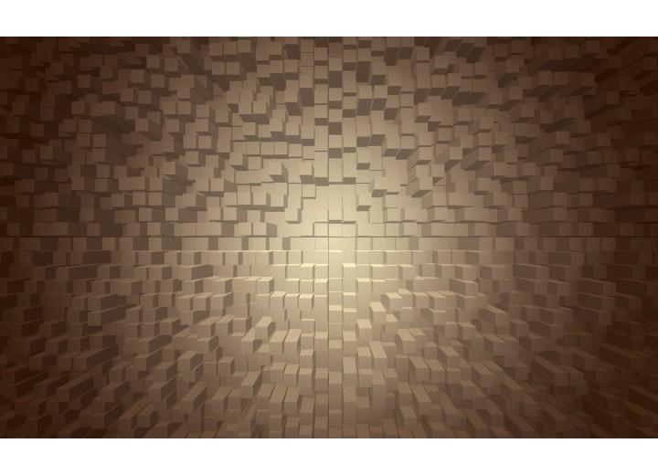 Fotobehang Vlies | 3D | Grijs, Bruin | 254x184cm