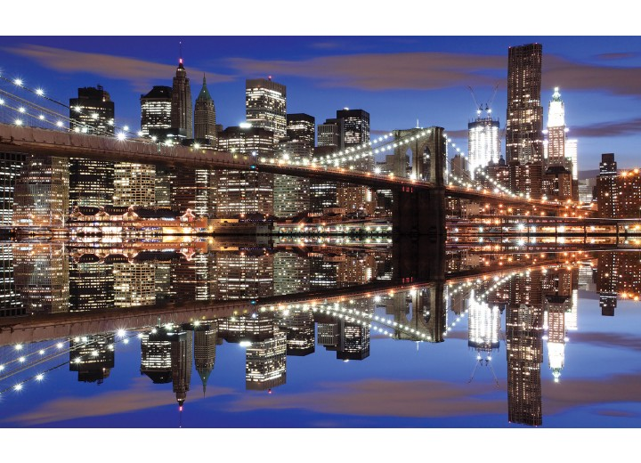 Fotobehang Vlies | New York | Grijs | 254x184cm