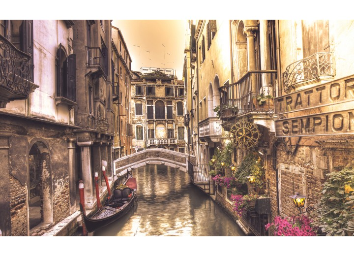 Fotobehang Vlies | Venetië | Bruin | 254x184cm