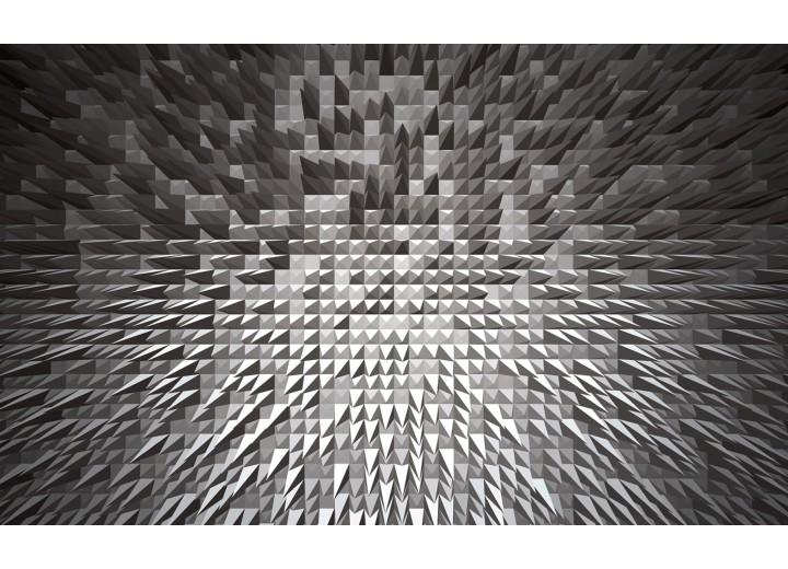 Fotobehang Vlies   3D   Grijs   254x184cm