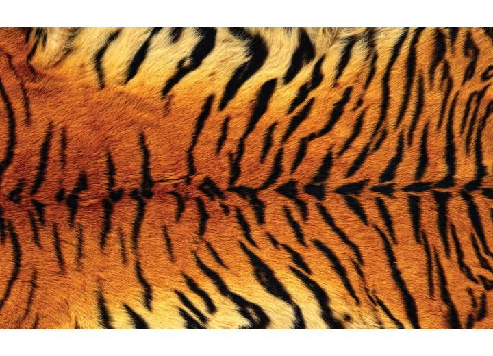Fotobehang Vlies | Tijger | Bruin | 254x184cm