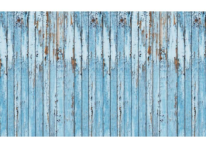 Fotobehang Vlies   Hout, Landelijk   Blauw   254x184cm