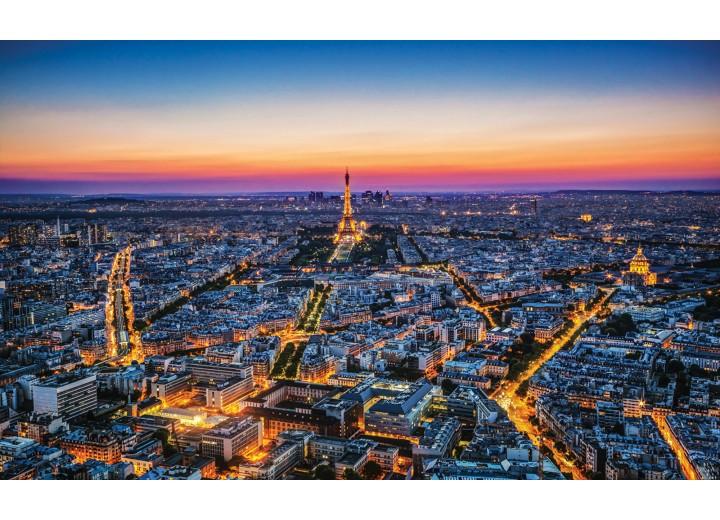 Fotobehang Vlies | Parijs | Blauw | 254x184cm