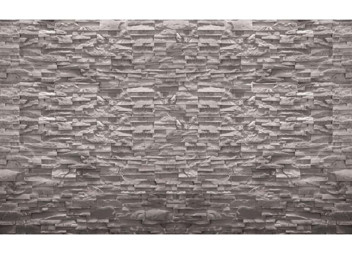 Fotobehang Vlies | Stenen, Muur | Grijs | 254x184cm