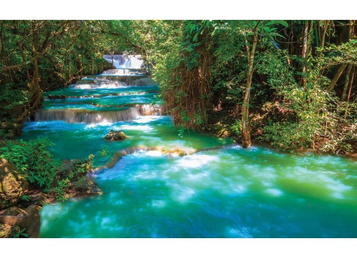 Fotobehang Vlies | Natuur | Groen, Blauw | 254x184cm