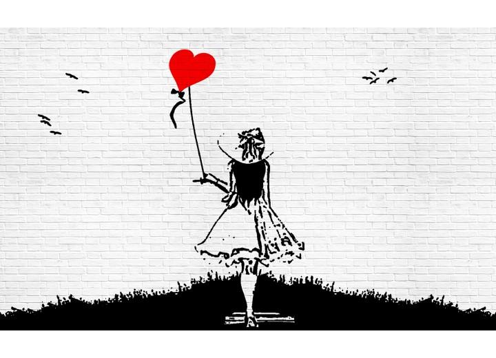 Fotobehang Vlies | Street Art | Zwart, Wit | 254x184cm