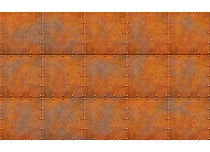 Fotobehang Vlies | Metaallook | Bruin, Oranje | 254x184cm