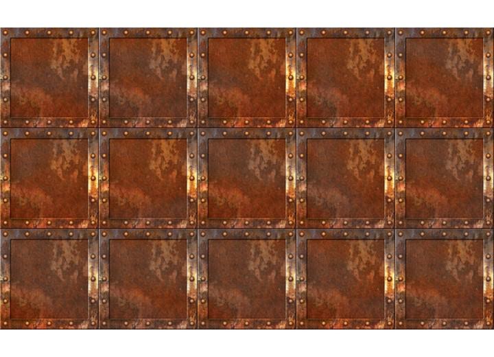 Fotobehang Vlies | Metaallook | Bruin | 254x184cm