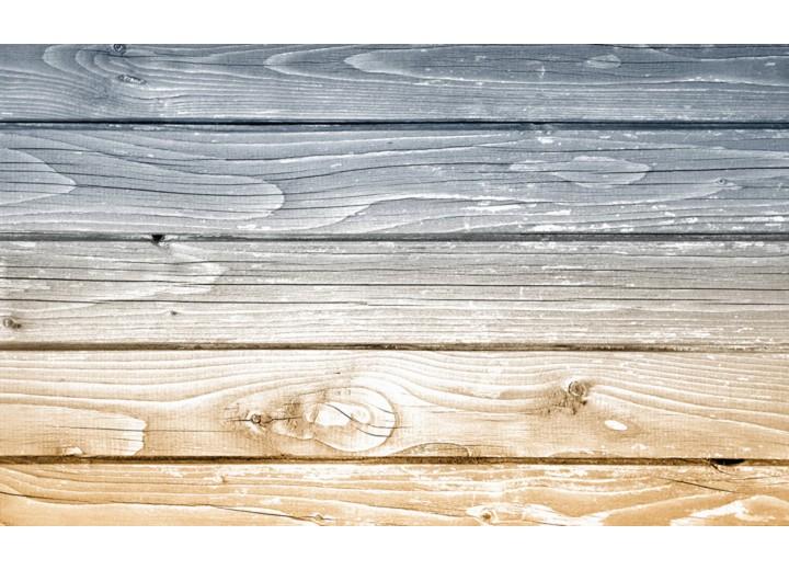 Fotobehang Vlies | Hout | Grijs, Geel | 254x184cm