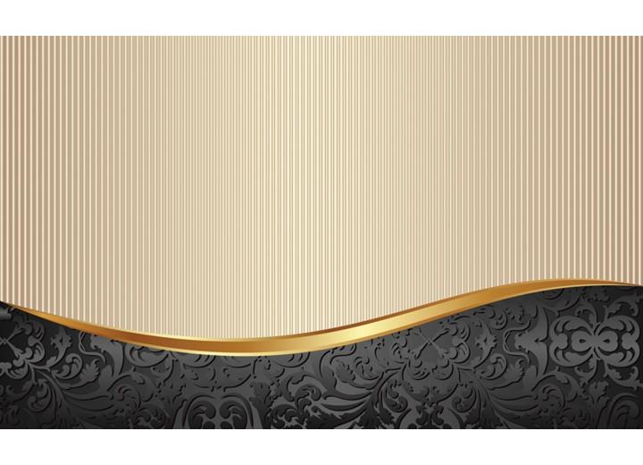 Fotobehang Vlies   Klassiek   Zwart, Goud   254x184cm