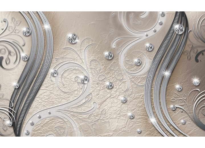 Fotobehang Vlies   Modern   Zilver   254x184cm