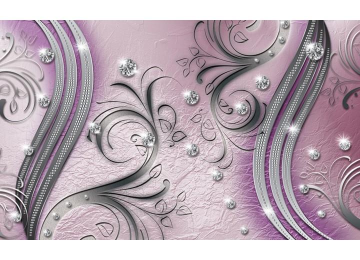 Fotobehang Vlies   Modern   Zilver, Paars   254x184cm
