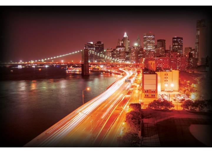Fotobehang Vlies | New York | Oranje | 254x184cm