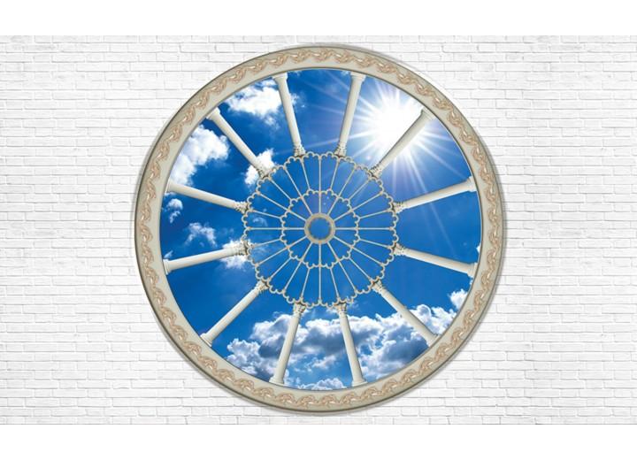 Fotobehang Vlies | Muur, Lucht | Blauw | 254x184cm