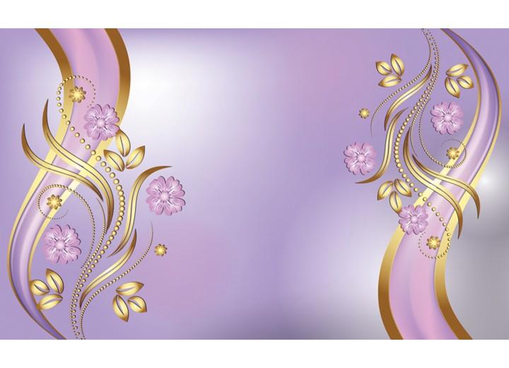 Fotobehang Vlies | Klassiek, Bloemen | Paars | 254x184cm