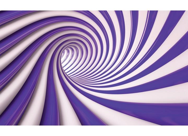 Fotobehang Vlies | Design | Paars, Wit | 254x184cm