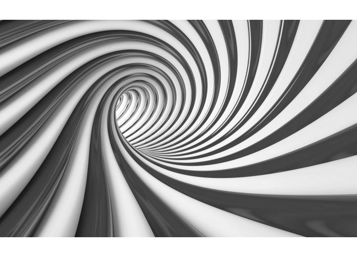 Fotobehang Vlies | Design, Diepte | Zwart | 254x184cm