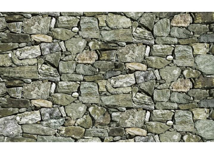 Fotobehang Vlies | Stenen, Muur | Groen | 254x184cm