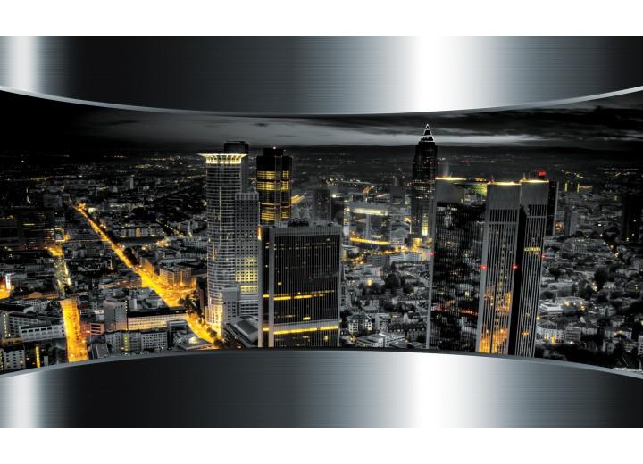Fotobehang Vlies   Skyline, Steden   Zilver   254x184cm