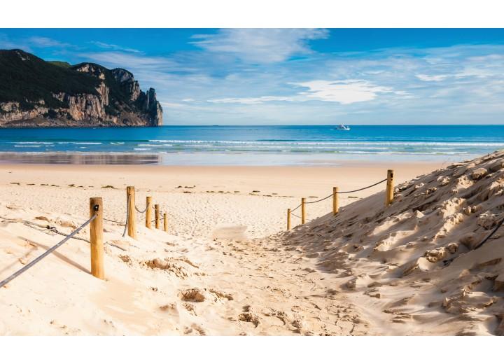 Fotobehang Vlies | Strand, Zee | Blauw | 254x184cm