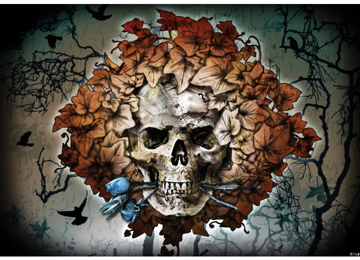 Fotobehang Vlies   Alchemy Gothic   Bruin   254x184cm