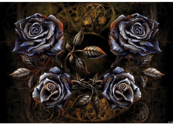 Fotobehang Vlies   Alchemy Gothic   Grijs   254x184cm