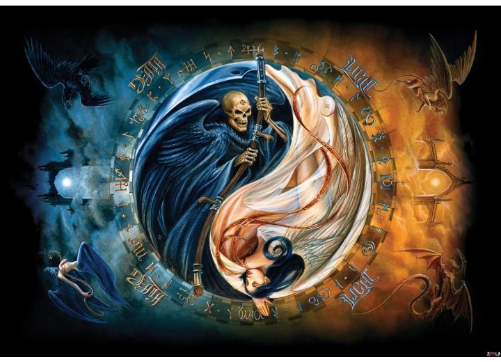 Fotobehang Vlies | Alchemy Gothic | Blauw | 254x184cm