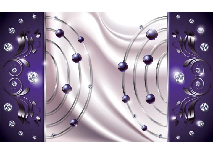 Fotobehang Vlies   Modern   Paars, Zilver   254x184cm