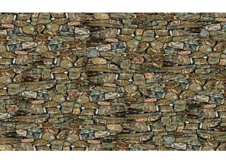 Fotobehang Vlies   Stenen, Muur   Groen   254x184cm