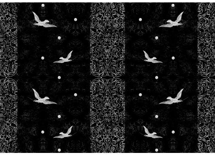 Fotobehang Vlies | Vogels | Zwart | 254x184cm