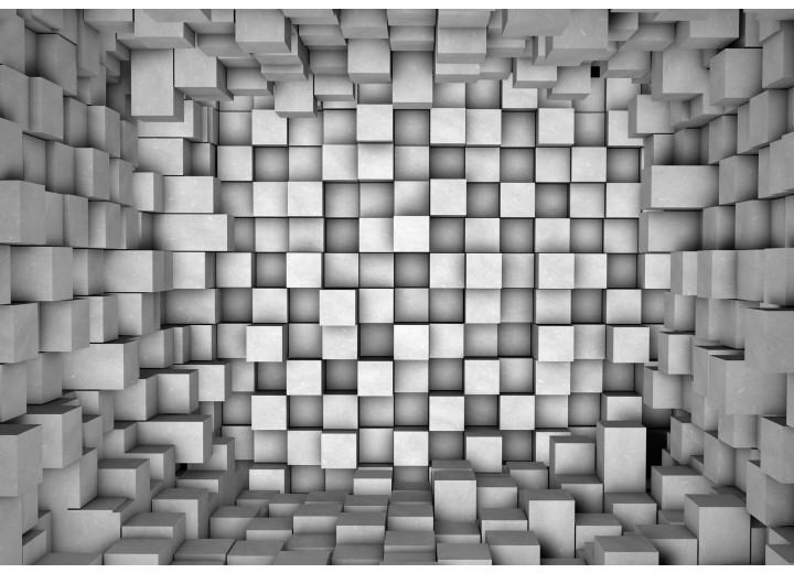 Fotobehang Vlies | 3D | Grijs | 254x184cm