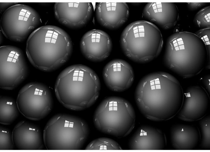 Fotobehang Vlies | Modern | Grijs, Zwart | 254x184cm
