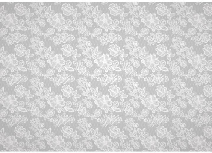 Fotobehang Vlies | Bloemen | Grijs | 254x184cm