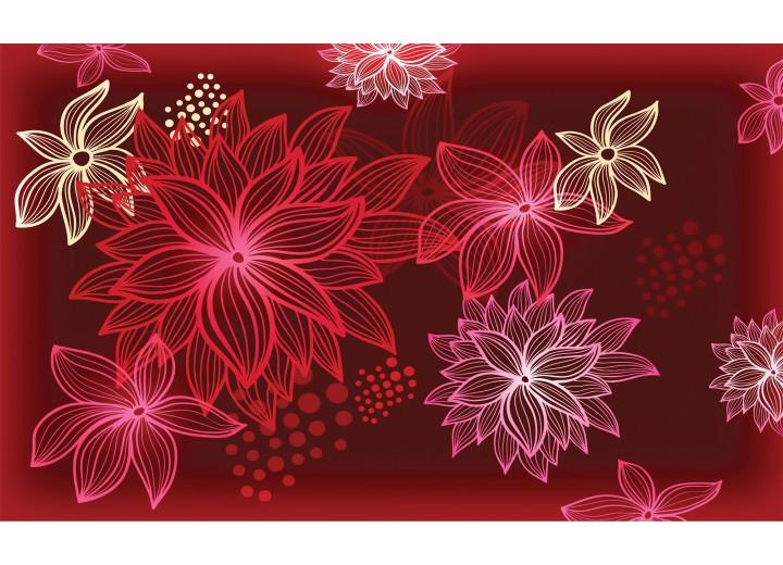 Fotobehang Vlies   Bloemen   Rood   254x184cm