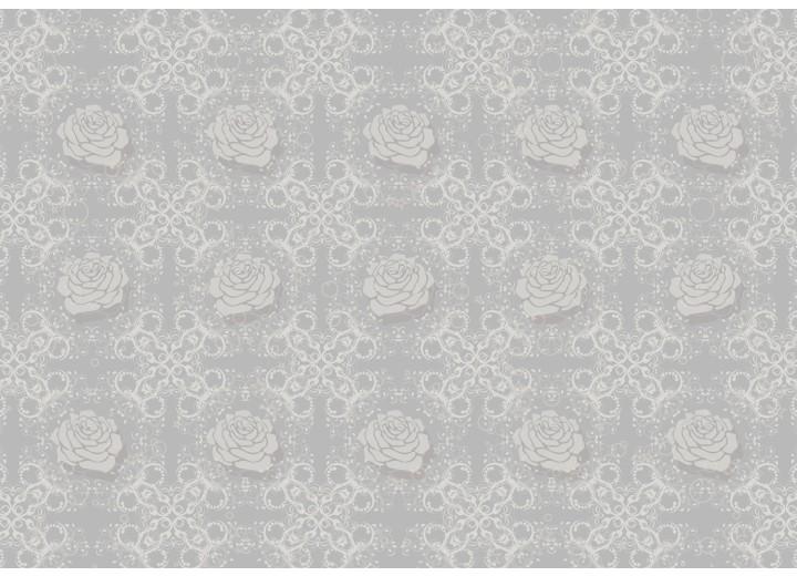 Fotobehang Vlies | Rozen, Bloemen | Grijs | 254x184cm