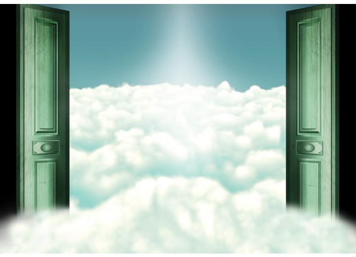 Fotobehang Vlies | Wolken | Groen | 254x184cm